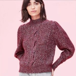 NWOT Rebecca Taylor Maroon Speckled Sweater